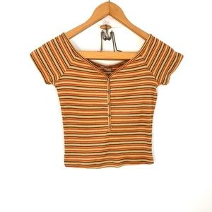 Active USA striped cropped top